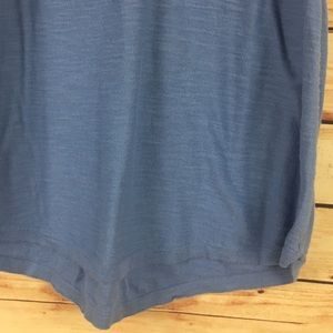 LOFT Tops - LOFT Sleeveless Tank Top Button Back Blue Medium